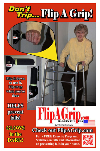 The Flip A Grip Helps Prevent Falls and promotes independence.  (PRNewsFoto/Flip A Grip)