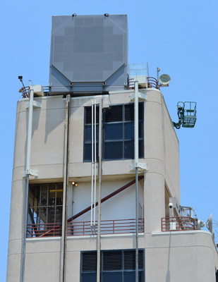 Raytheon photo: Partially-populated, full-sized Air and Missile Defense Radar array
