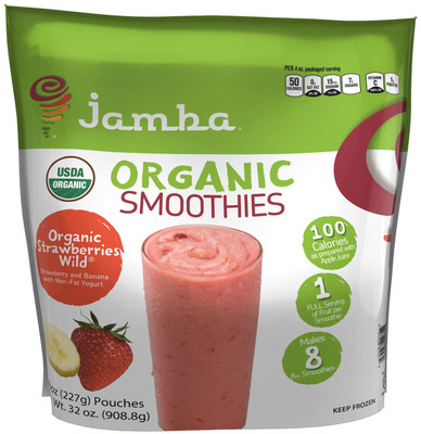 Jamba At-Home smoothie line welcomes new certified-organic variety in bulk-sized package available at Sam's Club