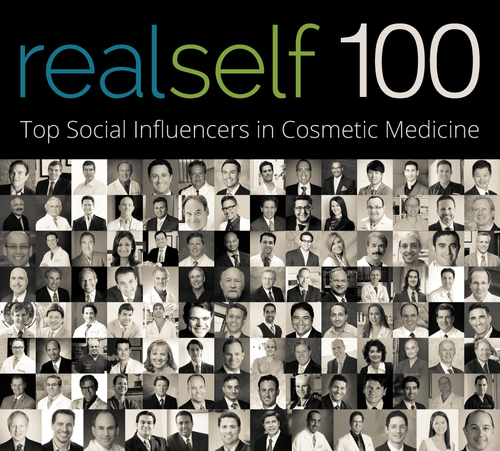 Meet the Top 100 Social Media Influencers in Cosmetic Medicine. The RealSelf 100 Recognizes Leading Plastic Surgeons, Facial Plastic Surgeons and Dermatologists for Dedication to Consumer Education.  (PRNewsFoto/RealSelf)