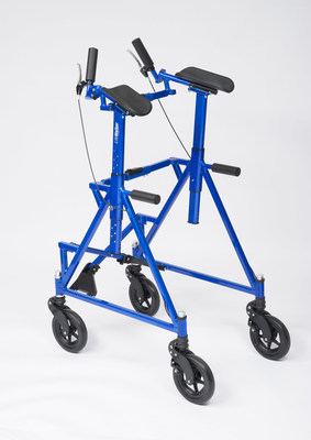 The LifeWalker(TM) Upright, a next-generation medical walker designed to enable users to stand upright and walk safer, longer and more comfortably than with currently available, less stable walkers and canes.