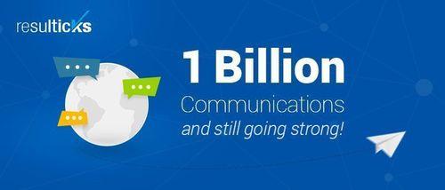Resulticks Achieves 1 Billion Communications Mark in Under 5 Months (PRNewsFoto/Resulticks)