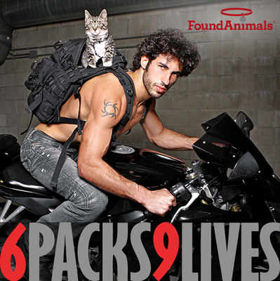"Found Animals Foundation Launches ""6 Packs/9 Lives"" 2012 Calendar. Visit us at www.foundanimals.org!  (PRNewsFoto/Found Animals Foundation)"