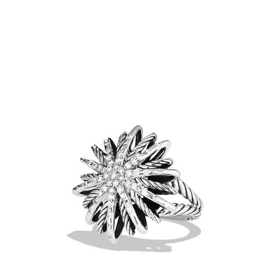 David Yurman Starburst Ring with Diamonds in Sterling Silver Retail Price: $1,650 Photo Credit: Jeffrey Totaro