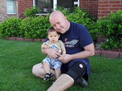 Don with his son, Urijah, before the child was kidnapped.