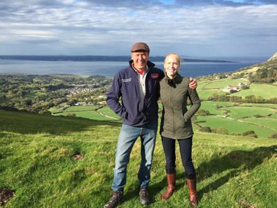 """Gareth Wyn Jones, """"the Tweeting farmer,"""" and Darley Newman in Northern England."""