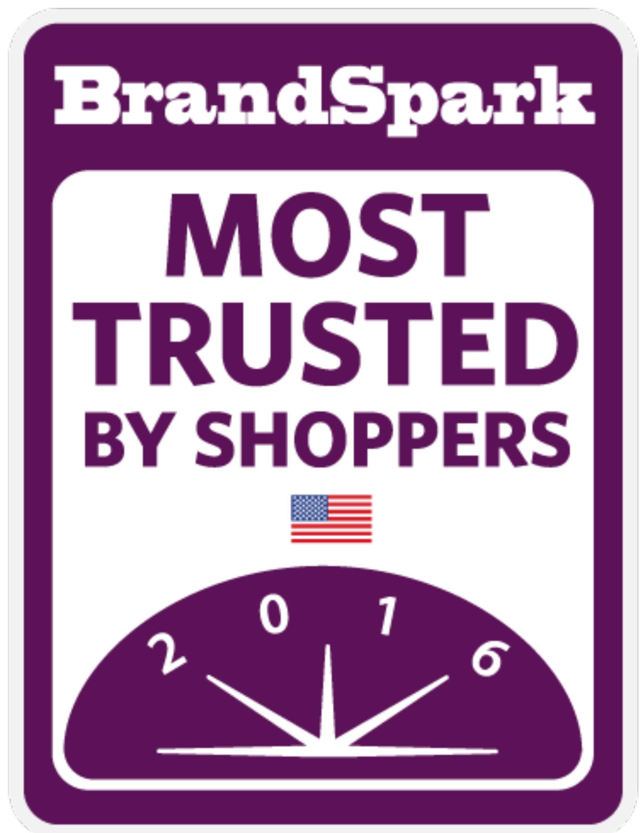 2016 BrandSpark Most Trusted Awards Logo (PRNewsFoto/BrandSpark International)