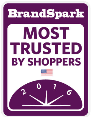 2016 BrandSpark Most Trusted Awards Logo (PRNewsFoto/BrandSpark International)