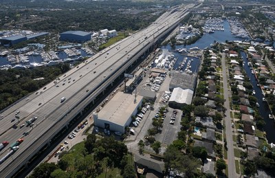 Historic 11.3 acre boatyard and marina listed for sale.  Property located on the South fork of The New River close to downtown Fort Lauderdale, Florida.