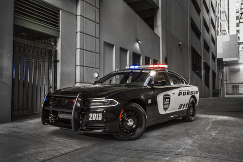 The Dodge brand recognizes that the heroic men and women who protect us must be equipped with the best performing pursuit-rated vehicle loaded with tactical equipment and technology.  And for 2015, the Dodge Charger Pursuit -- America's high-performance police vehicle -- has been significantly redesigned, infused with even more world-class safety and security, technology and pursuit-rated hardware, all while offering 370 best-in-class horsepower, factory-installed Mopar upfit packages and the segment's most advanced all-wheel-drive ...