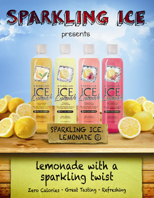 Sparkling ICE(R) Grows Award-Winning Product Line with New Sparkling Lemonade Expansion.  (PRNewsFoto/Sparkling ICE)