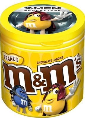 M&M'S is introducing X-Men-themed merchandise bottles featuring eight X-Men M&M'S character images. The new bottles will be available in early May at Walmart, Kroger, CVS and movie cinemas across the United States.
