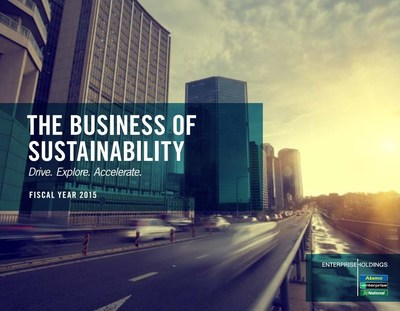 The world's largest car rental service provider, Enterprise Holdings Inc., has announced new five-year goals in its fiscal year 2015 sustainability report, The Business of Sustainability, available on www.drivingfutures.com. (PRNewsFoto/Enterprise Holdings)