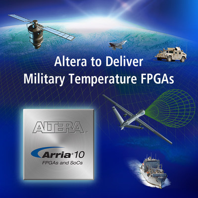 Altera to deliver 20 nm FPGAs and SoC devices at military temperature. (PRNewsFoto/Altera Corporation)