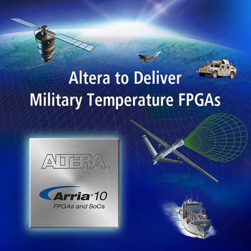 Altera to deliver 20 nm FPGAs and SoC devices at military temperature. (PRNewsFoto/Altera Corporation)
