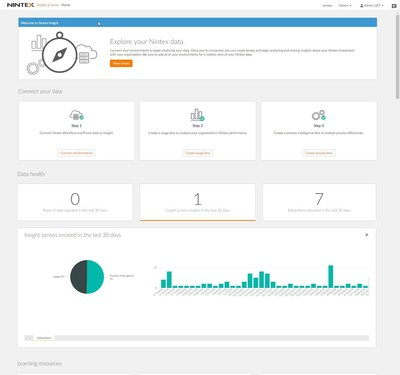 Nintex Insight(TM) is a new cloud-based workflow analytics solution that will provide Nintex customers with actionable business insights. This reporting capability will be released later in 2016 and will help customers to better understand the effectiveness and impact of processes, value to their enterprises, and assist them in building a digital transformation roadmap.