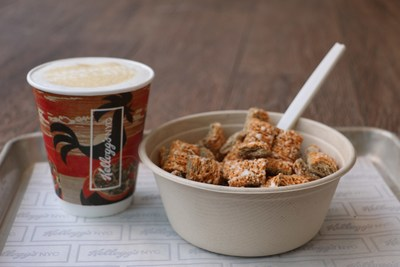 The Pumpkin Spice Latte Bowl, featuring Kellogg's Frosted Mini-Wheats Pumpkin Spice, is available at Kellogg's NYC starting September 6.