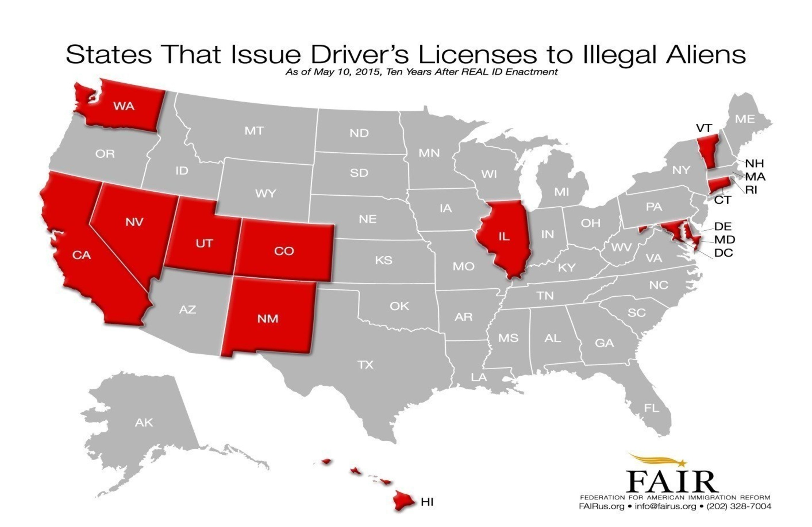 States That Issue Driver's Licenses to Illegal Aliens. FAIRus.org
