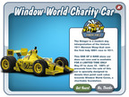 Window World Cares and Cie Games are teaming up for the online 'Stinger' show car, available in the 'Car Town' game on Facebook.  All proceeds from the purchase of the Stinger will go to the Window World Cares foundation which supports charitable causes such as St. Jude Children's Research Hospital and Veterans Airlift Command. The Stinger is an IndyCar show car developed by John Andretti, Andretti Autosport, Richard Petty Motorsports and Window World honoring the Indy 500's 100th anniversary.  (PRNewsFoto/Window World)