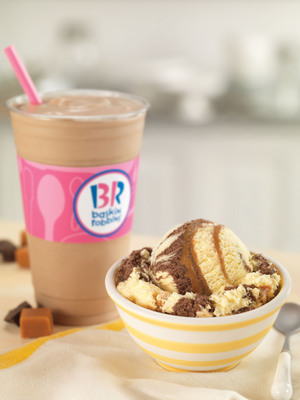 Baskin-Robbins Scores Big with Classic Gold Medal Ribbon Flavor As Its August Flavor of the Month.  (PRNewsFoto/Baskin-Robbins)