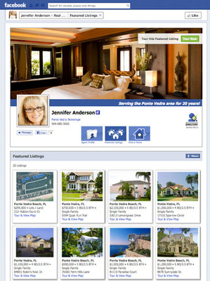 Sample page of N-Play's Real Estate Agent Directory on Facebook.  (PRNewsFoto/N-Play)
