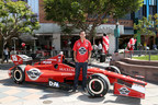 Steak 'n Shake and Rahal Letterman Lanigan Racing today debuted the new No. 15 Steak 'n Shake Indy car at the Third Street Promenade on Wednesday, April 15, 2015, in Santa Monica, Calif. (Photo by Casey Rodgers/Invision for Steak 'n Shake/AP Images)