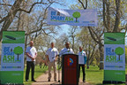 """Mayor Michael B. Hancock urges Denver residents to """"Be A Smart Ash"""" and join the city in saving Denver's ash tree population from Emerald Ash Borer infestation."""