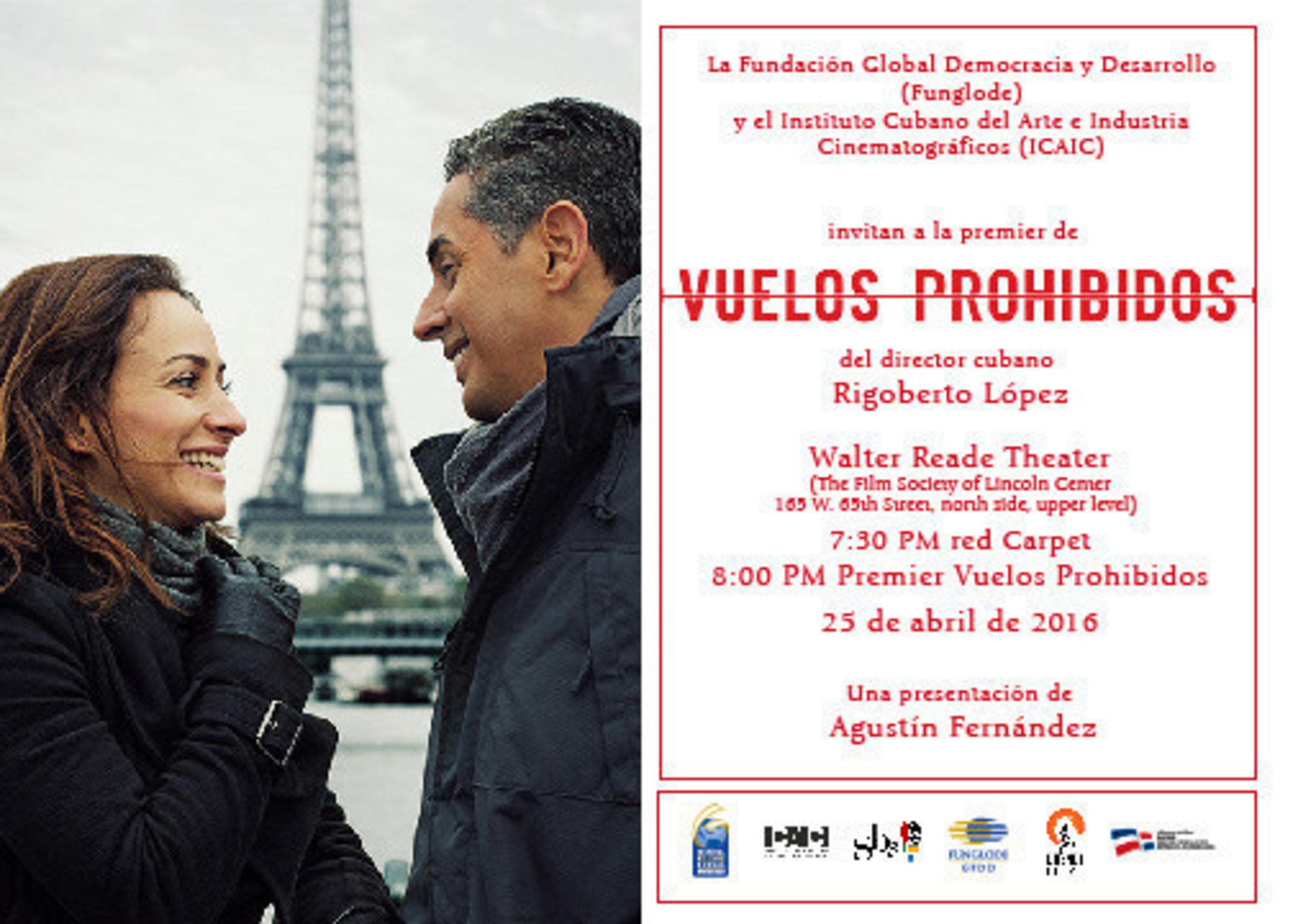 """Mega 97.9FM, 93.1FM Amor presentan en Nueva York la cinta cinematografica """"Vuelos Prohibidos"""", de Rigoberto Lopez"""
