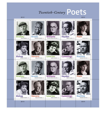 Postal Service Immortalizes Literary Giants with 20th-Century Poets Forever Stamps.  (PRNewsFoto/U.S. Postal Service)