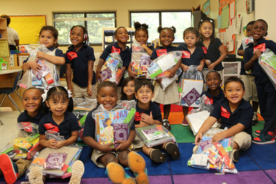830 students at Thomasboro Academy in Charlotte, N.C. received school supplies from Ally