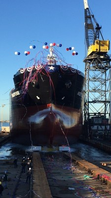 On Saturday, December 12, General Dynamics NASSCO launched the first ship in a series of ECO Class tankers for the SEA-Vista fleet. The christening and launch ceremony took place at the company's shipyard in San Diego. The ship, the Independence, is a 610-foot, 50,000 deadweight-ton, and LNG-conversion-ready product tanker with a 330,000 barrel cargo capacity.