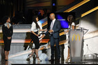 Hosted by Terrence 'J' Jenkins and KeKe Palmer, the 12th annual 365Black Awards will premiere on BET Networks Sunday, August 23 at 9:00 p.m. EST/8:00 p.m. CST. Pictured, Academy award-nominated filmmaker, Ava DuVernay accepts award from actor/rapper, Common alongside actress, Salli Richardson Whitfield  at the 12th annual 365Black Awards.