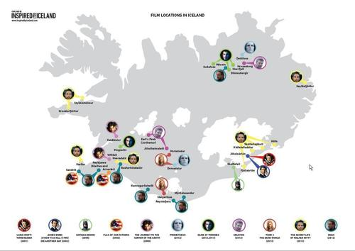 A Map of Film Locations in Iceland (PRNewsFoto/Promote Iceland)