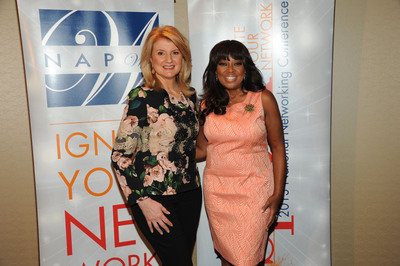 Star Jones, NAPW National Spokesperson, with Arianna Huffington, President and Editor-in-Chief of the Huffington Post Media Group, at NAPW's third annual National Networking Conference, Spark. Ignite Your Network.