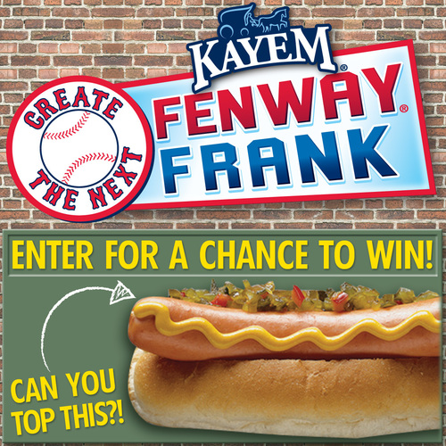 Kayem Announces Return Of Create The Next Fenway Frank Contest. (PRNewsFoto/Kayem Foods)