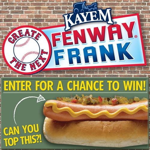 Kayem Announces Return Of Create The Next Fenway Frank Contest. (PRNewsFoto/Kayem Foods)
