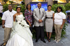 NEW ORLEANS (July 2, 2010): Disney's Dreamers Academy With Steve Harvey(DDA) gains a new voice as Essence Magazine's editor-in-chief Angela Burt-Murray announces that Essence Communications will join forces with Disney Parks for this annual youth enrichment program. Pictured above (l to r) Jesse Bridges, DDA alumnus; Princess Tiana; Tracey Walters-Powell, director of theme parks and resorts pricing for Disney Parks; entertainer Steve Harvey; Essence Magazine editor-in-chief Angela Burt-Murray; and Kendra Lynch-Mills, DDA alumnus. (PRNewsFoto/Walt Disney World Resort)