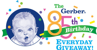 Gerber Celebrates Its 85th Birthday with 85 Days of Giveaways.  (PRNewsFoto/Gerber)