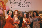 L to R: Assistant Designer Micheline Pitt, Boutique Store Manager Doris Mayday, CEO, Founder Laura Byrnes, Prom Queen winner, daughter Milena Byrnes-Flores and Spokesmodel Masuimi Max (PRNewsFoto/Pin Up Girl Inc.)
