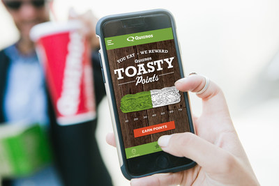 Toasty Points, allows guests to earn and redeem points for free Quiznos menu items at locations across the country.