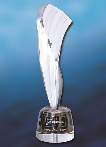 BorgWarner Turbo Systems received a Daimler Supplier Award 2012 in the Mercedes-Benz Cars and Vans-Powertrain ...