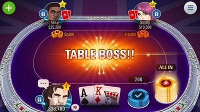 Jackpot Poker in game action (PRNewsFoto/PokerStars)