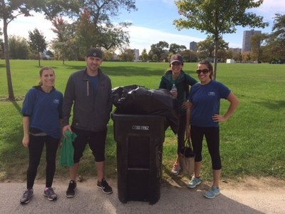 WebMD Cares Impact Day 2016 - The Chicago Team worked with the Chicago Parks Foundation to help clean up Montrose Beach.