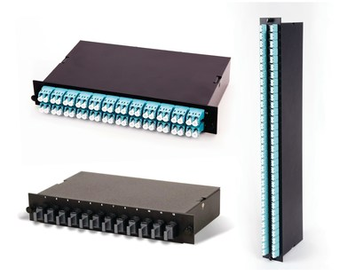 CABLExpress introduced three fiber optic modules to its line of port replication solutions: the 120G/10G Module for Arista MXP Transceiver (top left), the 120/40G Module for Arista MXP Transceiver (bottom left), and the 64-Port Module for Brocade Fibre Channel (FC) 16-64 Port Blade (right). The modules, part of the CABLExpress Skinny-Trunk Solution, enable increased efficiency in the data center and allow organizations to maximize their technology infrastructure investments.