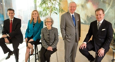 Five attorneys from the Texas trial and appellate law firm Godwin Lewis PC have been selected to the D Magazine 2014 list of The Best Lawyers in Dallas. From left,  Shawn M. McCaskill, Jenny L. Martinez, Marilea W. Lewis, Donald E. Godwin, Jack T. Jamison. (PRNewsFoto/Godwin Lewis PC)