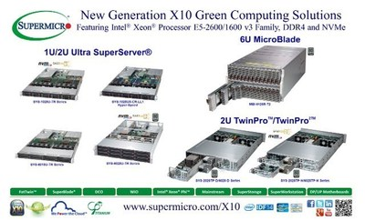 Supermicro® X10 Intel® Xeon® E5-2600/1600 v3 Server/Storage Solutions @ IDF 2014 (PRNewsFoto/Super Micro Computer, Inc.)