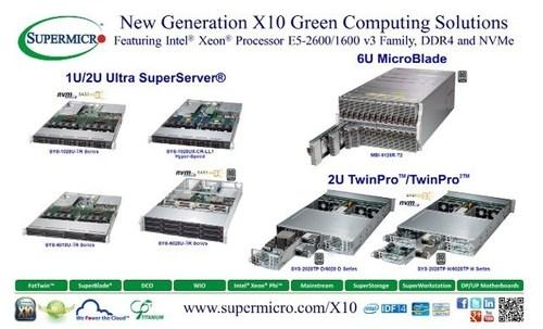 Supermicro®  X10 Intel®  Xeon®  E5-2600/1600 v3 Server/Storage Solutions @ IDF 2014 (PRNewsFoto/Super Micro ...