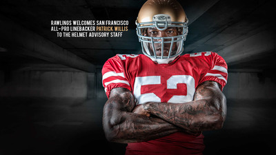 All-Pro Linebacker Patrick Willis Joins Rawlings Football's Advisors; will serve as lead advisor in all marketing communications.  (PRNewsFoto/Rawlings)