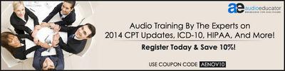 Audio Educator CPT Coding Updates.  (PRNewsFoto/Audio Educator)