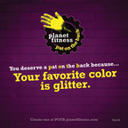 Planet Fitness brings back the pat on the back. potb.planetfitness.com.  (PRNewsFoto/Planet Fitness)